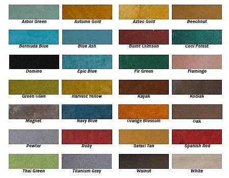 Concrete Countertop Color Options : Color Options