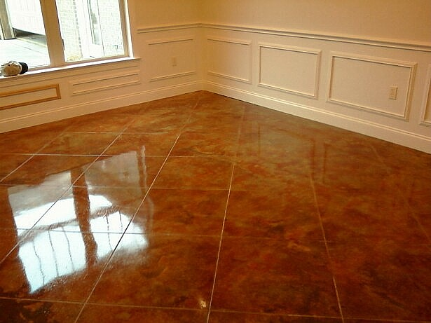 Good Concrete Staining   Indoor